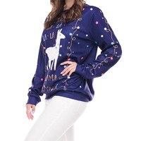 Printing Hoodies Christmas Hoodie O Neck Hoody Ladies Long Sleeve Sweatshirt Casual Pullover Moletom Wholesales #F#40SR11 1