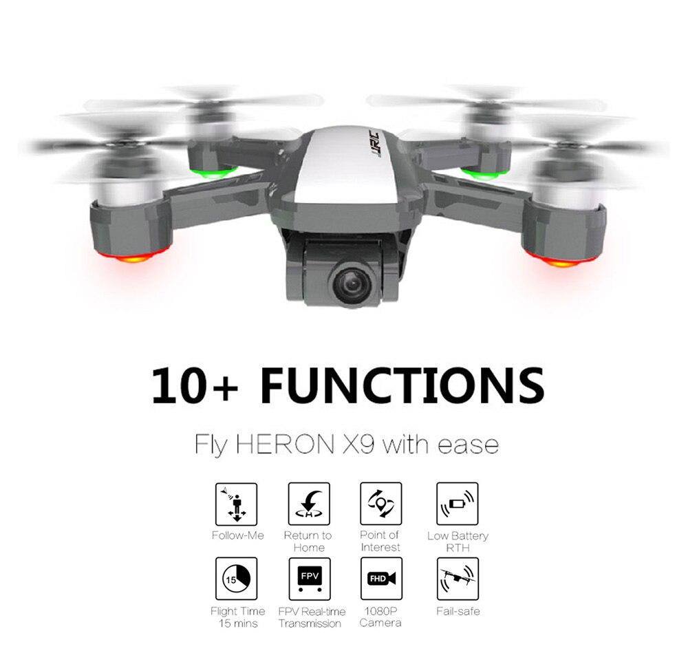 5G GPS 1080 P WiFi caméra FPV jjrc x9 RC Drone sans brosse moteur optique débit Altitude maintien quadrirotor télécommande hélicoptères