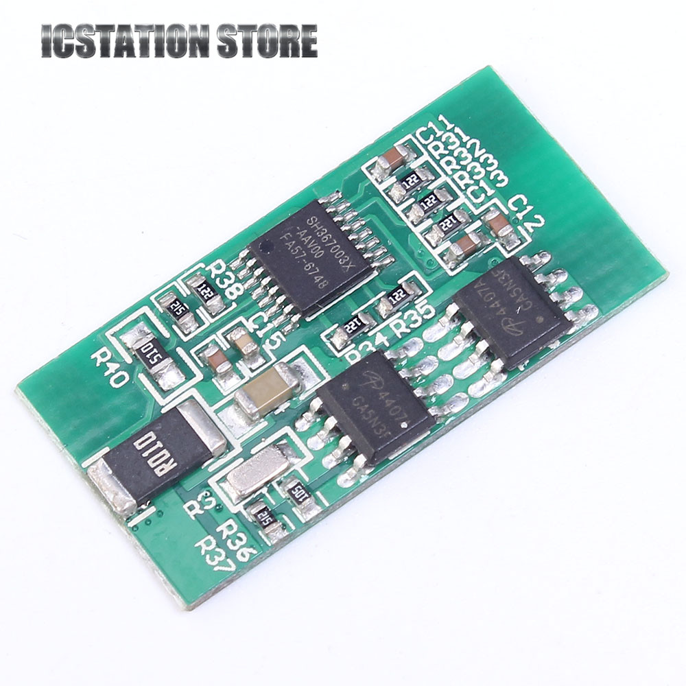 3S 11.1V 4A Li-ion Lithium Polymer Battery Charging Protection Board PCB 18650 Charger Module with protection brown 3 7v lithium polymer battery 7565121 charging treasure mobile power charging core 8000 ma rechargeable li ion cell