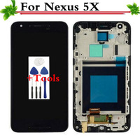 For LG Nexus 5X H790 H791 LCD Display Touch Screen Digitizer Assembly With Frame Replacement