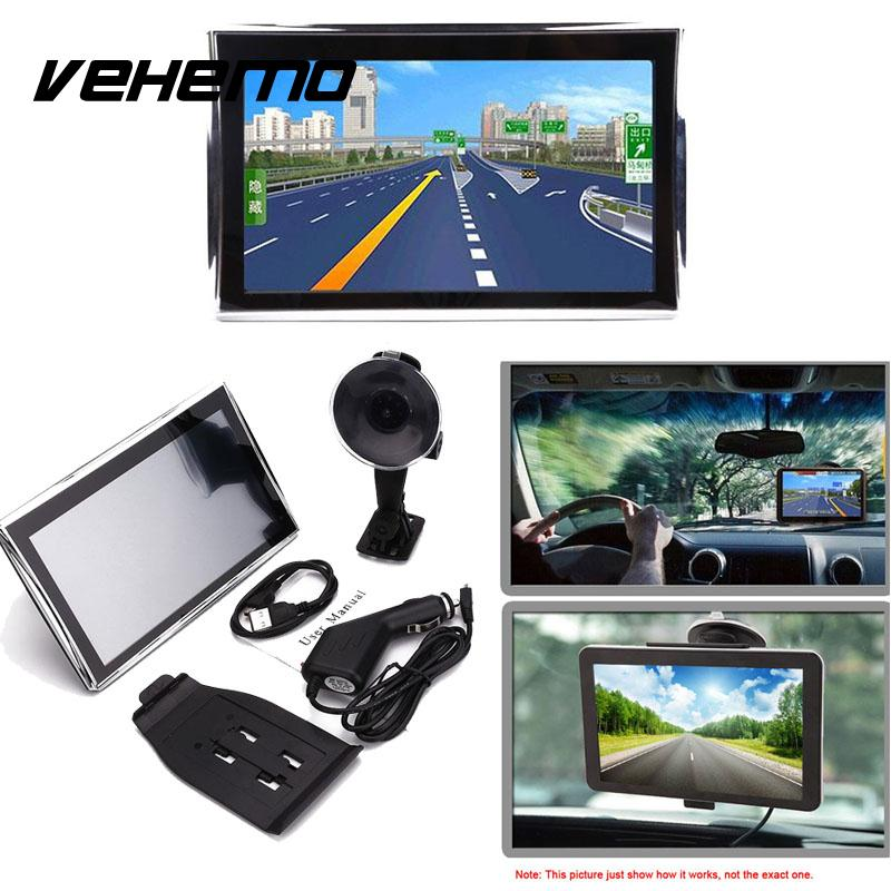 Vehemo Car 7 HD LCD Touch Screen Free EU Map Navigator NAV FM Video Play Portable