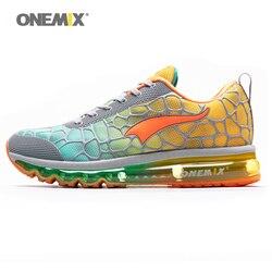 Onemix męskie buty biegowe z poduszkami powietrznymi oddychający odkryty lekkoatletyczny dobrej jakości buty do chodzenia podróże Walking obuwie do biegania w Buty do biegania od Sport i rozrywka na