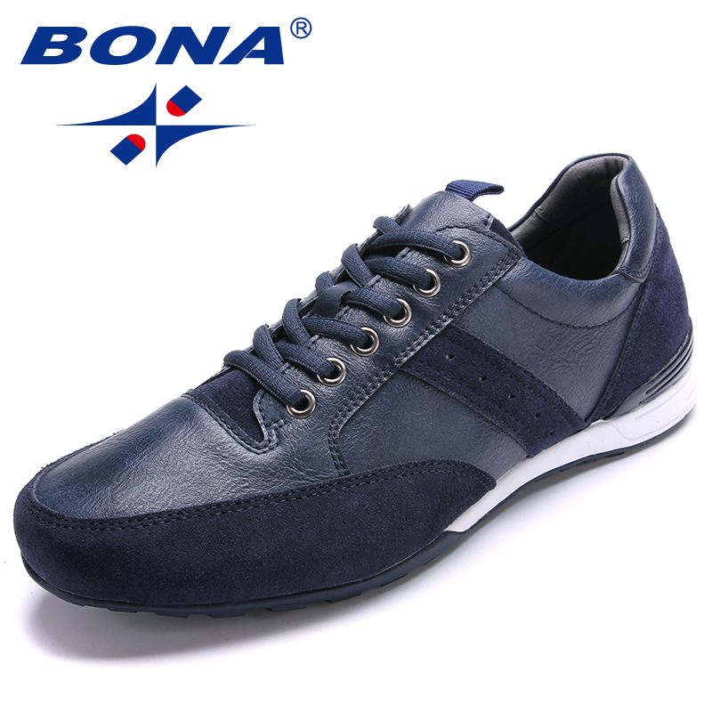BONA New Fashion Style Men Casual Shoes Lace Up Men Shoes Microfiber Light Soft Men Flats Comfortable Men Loafers Free Shipping free shipping 2017 new black brown autumn and winter full grain leather casual shoes men s fashion flats lace up shoes for men