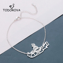 Купить с кэшбэком Todorova Stainless Steel Submarine Bracelets for Women Everyday Jewellery Sea Navy Submarine Charm Bracelet Femme Party Gift