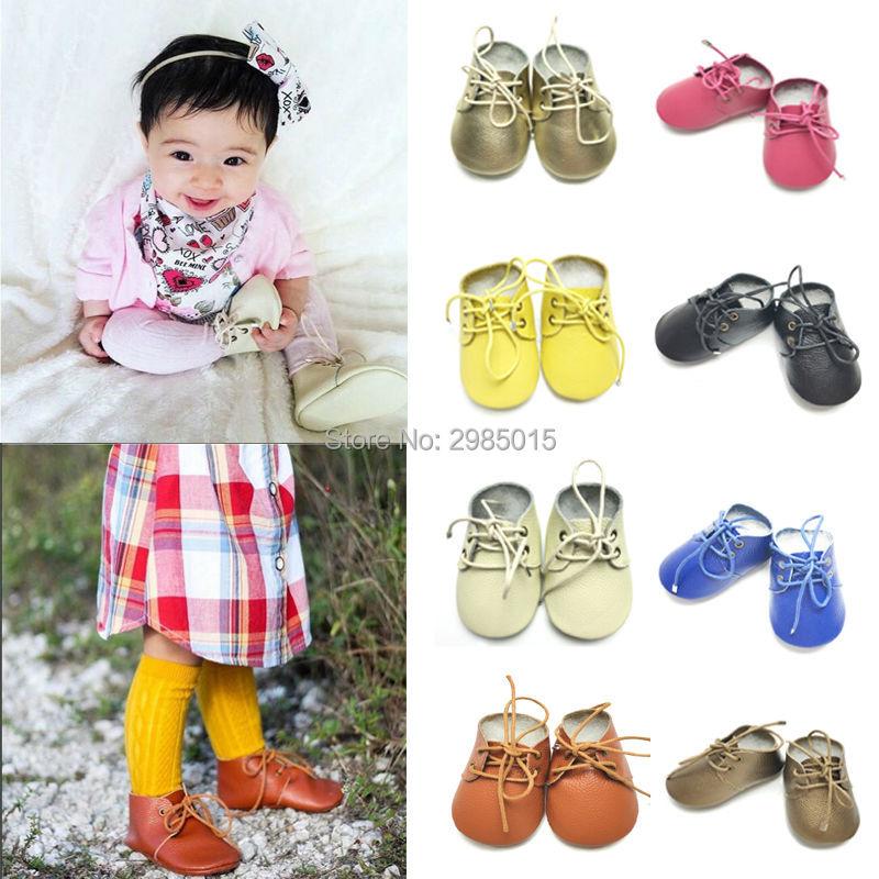 Zapatos de bebé Oxford de cuero genuino de alta calidad Mocasines de - Zapatos de bebé
