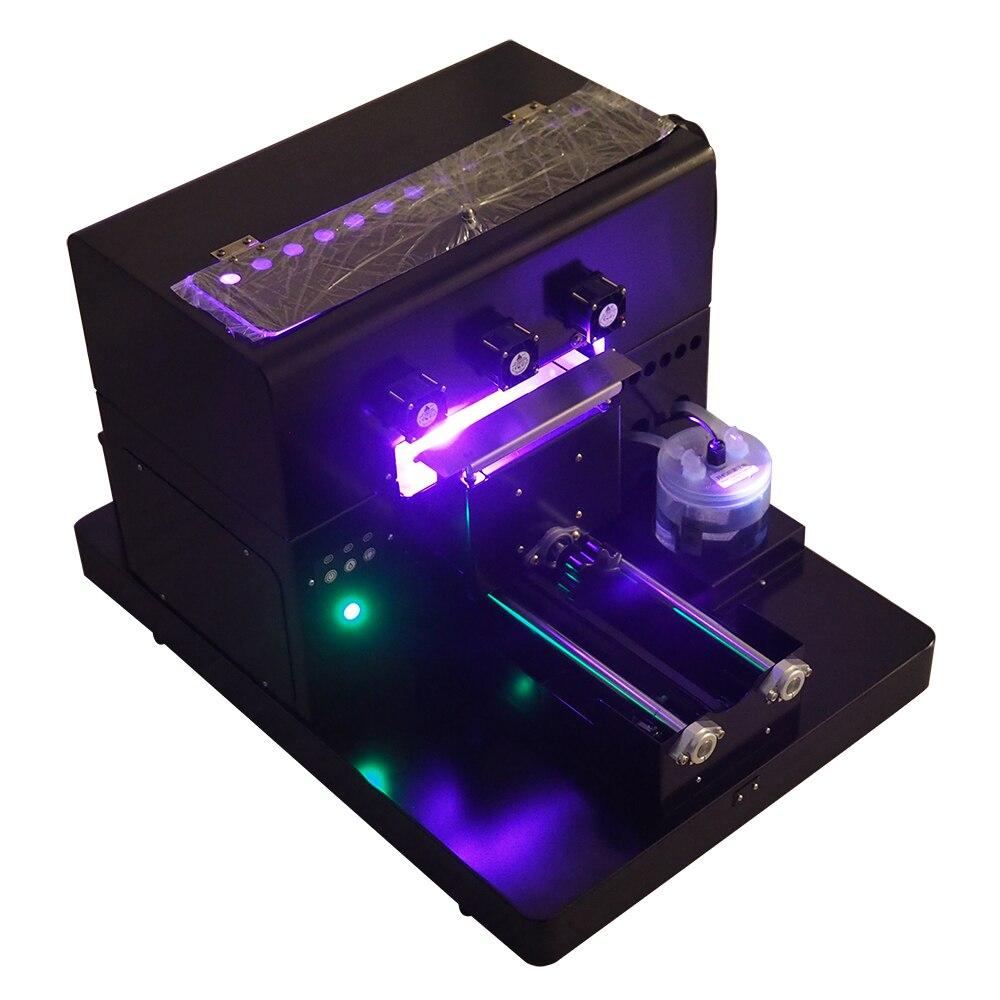 A4 UV Imprimante Petit UV À Plat Imprimante Pour la Couverture De Téléphone Cas de Téléphone Impression