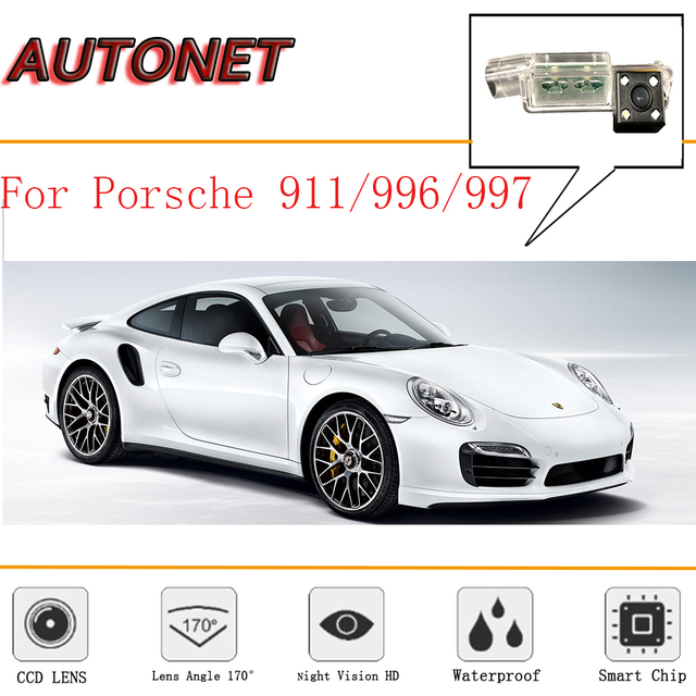 Autonet Rear View Camera For Porsche 911 996 997 991 Ccd Night Vision Reverse Backup License Plate