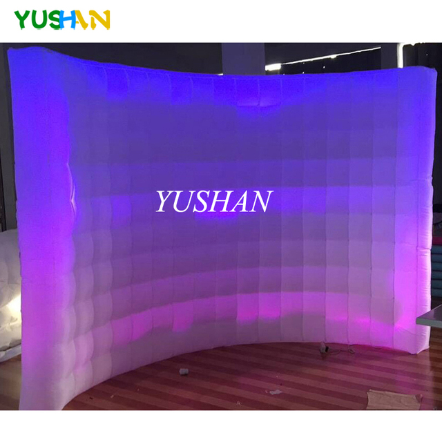 Customized 3m LED Inflatable wall photo booth wall photo booth backdrop stand LED Wall backdrop For wedding party promotions
