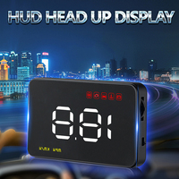 Head Up Display Car HUD OBD Connector Windshield Projector Self adaptive hud coche auto speedometer Safety alarm Warning