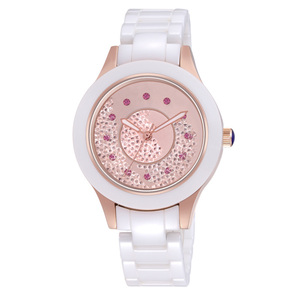 Image 3 - 2019 אופנה חדשה פשוט קריסטל גבירותיי שעון קרמיקה רצועה עמיד למים רב פונקציה קוורץ גבירותיי שעון גבירותיי מתנות Reloj Mujer