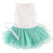 baby Girls Rose Flower Princess Birthday Wedding Dress for age 2-7 Years