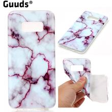 Guuds for Samsung S8 s8plus Phone Case Coque Gold Soft TPU Marble Pattern Case for Samsung Galaxy S8 Plus S8+ FREE SHIPPING