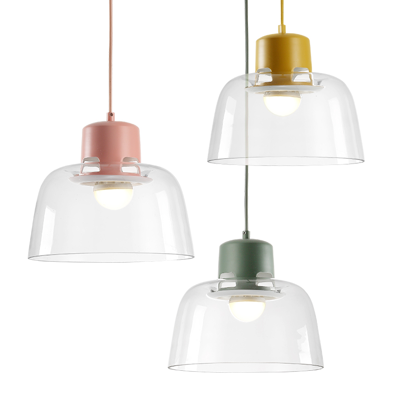 Deco Pure clear glass pendant lights lamp D26*H20cm colors metal clear glass shade hanging light Kitchen dining room glass lightDeco Pure clear glass pendant lights lamp D26*H20cm colors metal clear glass shade hanging light Kitchen dining room glass light
