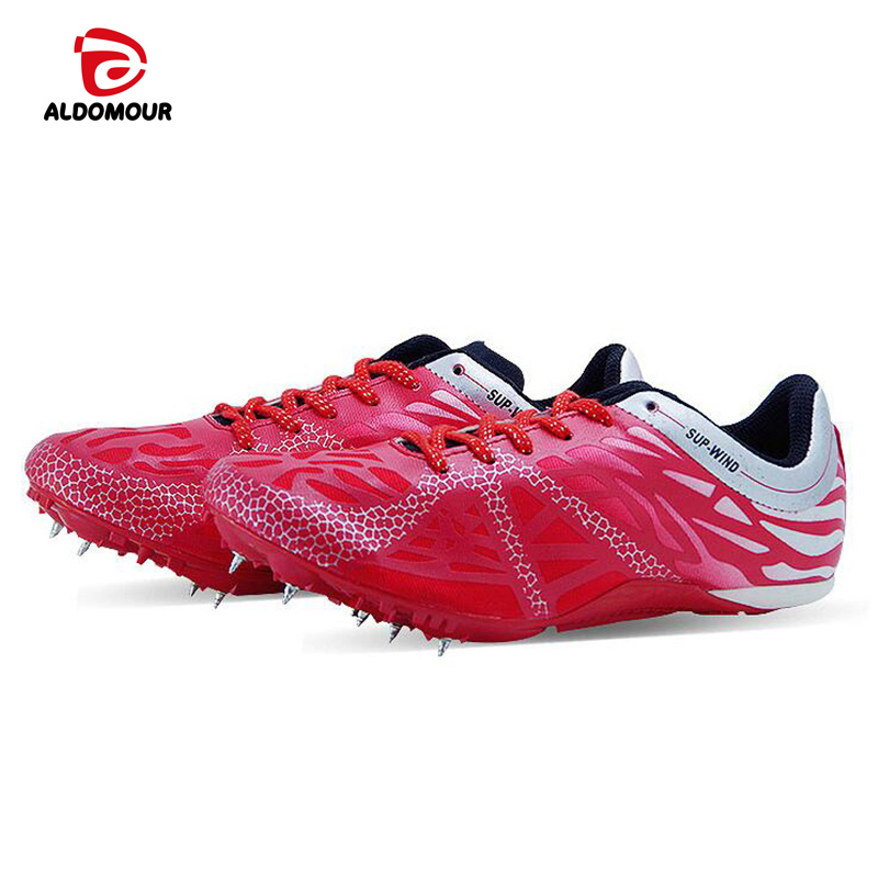 ALDOMOUR Running Shoes For Men Women ATHLETIC Shoes Spikes Trail Running Shoes  Breathable Zapatillas Deportivas Mujer Running 2016 women athletic running shoes for women breathable mesh sport shoes sneakers woman walking shoes zapatillas mujer