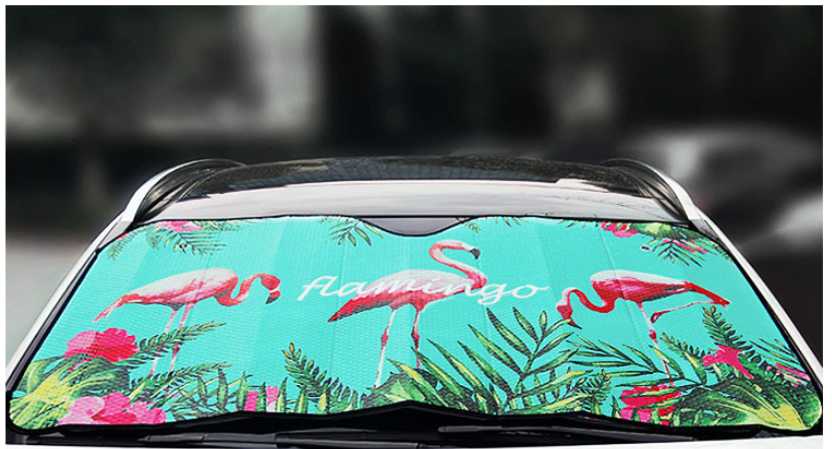 Cartoon Car Front Window Sunshade Auto Car Front Windscreen Solar Shade Sunshade Windshield Cover Car Protective Barrier