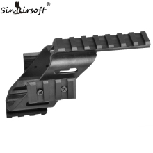 "Universal Taktis Pistol Scope Sight Laser Light Mount Dengan Quad 7/8 ""Weaver & Picatinny Rail Glock 17 5.56"