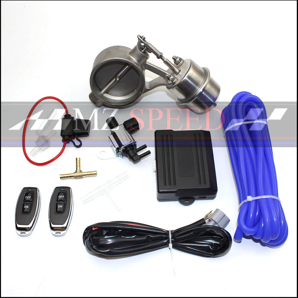 Exhaust Control Valve Set Cutout 51mm 63mm 3 76mm Pipe Close Style With Vacuum Actuator with