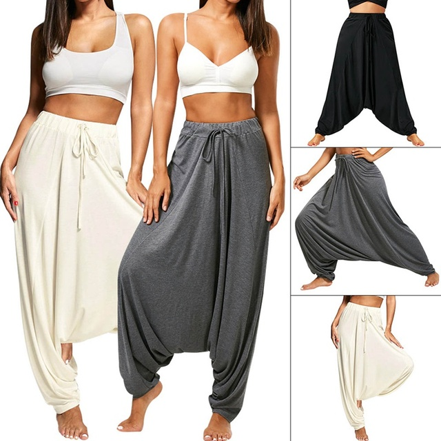 449957bbfe1511 Ladies Comfy Yoga Beach Baggy Gypsy Women Harem Pants Trousers Indian  Summer Loose Yoga Pants Plus Size