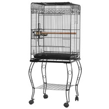 "57"" Bird Cage Parrot Canary Parakeet Cockatiel LoveBird Finch Cage with Wood Perches & Stainless Steel Cup Food Cups - US Stock(China)"