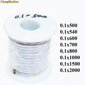 Image 1 - 0.1x500 0.1x540 0.1x600 0.1x700 0.1x800 0.1x1000 0.1x1500 0.1x2000 Strands litz wire enameled polyester copper wire cable Shares