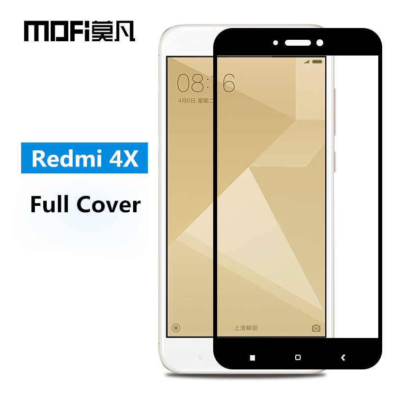 Xiaomi Redmi 4X glass tempered MOFi Redmi 4X Pro screen protector film full cover black white redmi 4 x tempered glass 5.0""