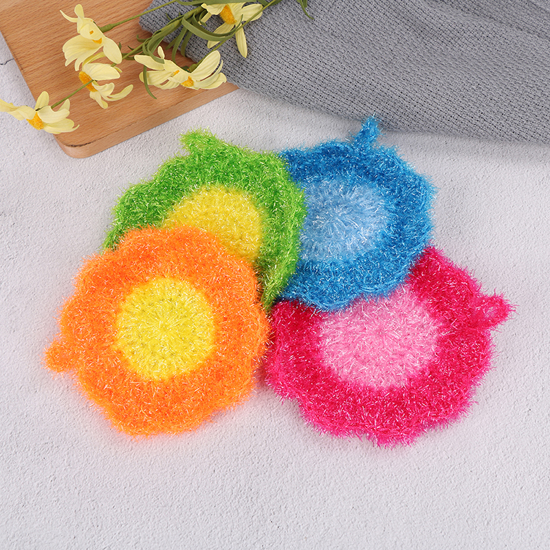 Detail Feedback Questions about 1Pcs Flower Shape korea High Efficient Anti  grease Dish Cloth Acrylic Washing Towel Magic Kitchen Cleaning Wiping Rags  on ... 859fe6709044c