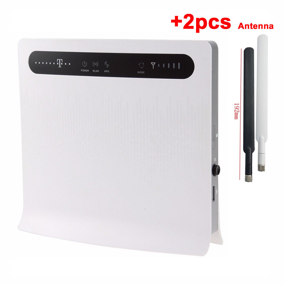 (+2pcs Antenna)Unlocked Huawei B593 B593u-12 4G LTE 100Mbps CPE Wifi Router lot of 100pcs huawei b593u 12 4g lte wireless cpe router gateway 100mbps wifi hotspot sim card 2pcs b593 4g antenna dhl shipping