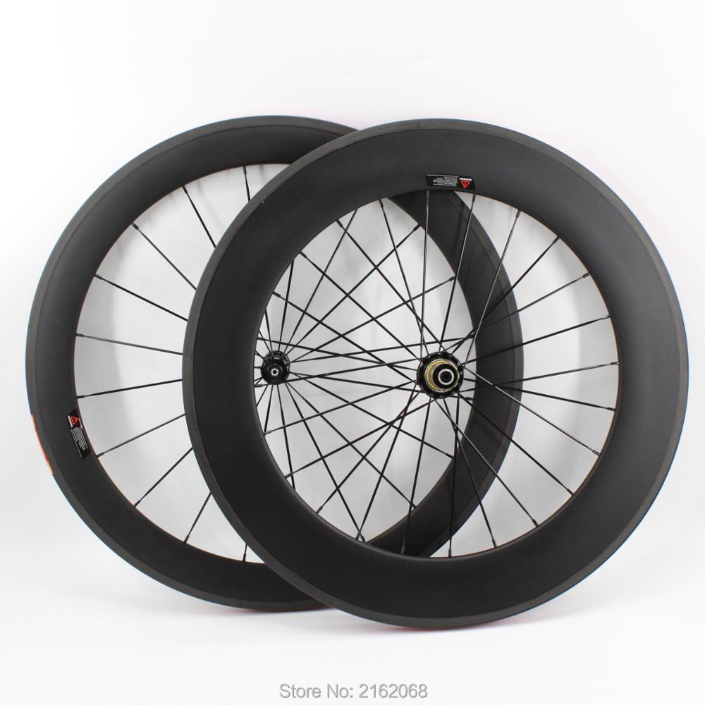 New arrival 700C front 60mm+rear 88mm clincher rims Road bike matt UD full carbon bicycle wheelsets 20.5/23/25mm width Free shipNew arrival 700C front 60mm+rear 88mm clincher rims Road bike matt UD full carbon bicycle wheelsets 20.5/23/25mm width Free ship