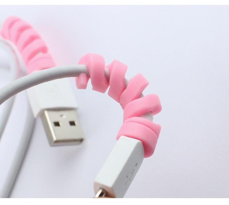 10 шт цветные спиральные провода протектор winder телефон зарядное устройство ушной механизм защиты кейвер линия хранения многофункциональный получить защиты