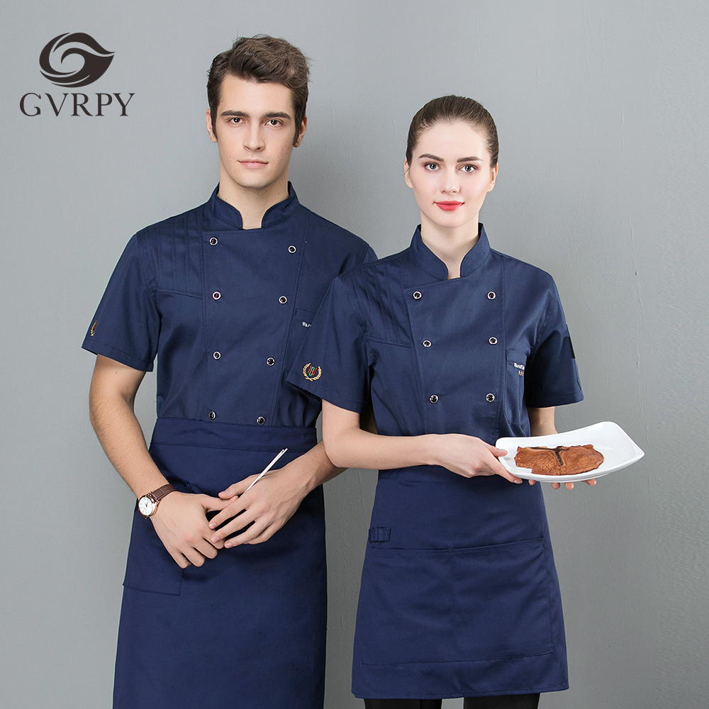 2019 New Chef Jacket Short Sleeve Workwear Barber Cake Shop Cafe Fast Food Service Restaurant Kitchen Workwear Jacket Jacket
