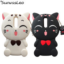 цена For Huawei Mate 10 Lite 3D Case Cartoon Silicone  Lucky Cat Soft Rubber Phone Cover Shell For Huawei Honor 9i / Nova 2i Fundas