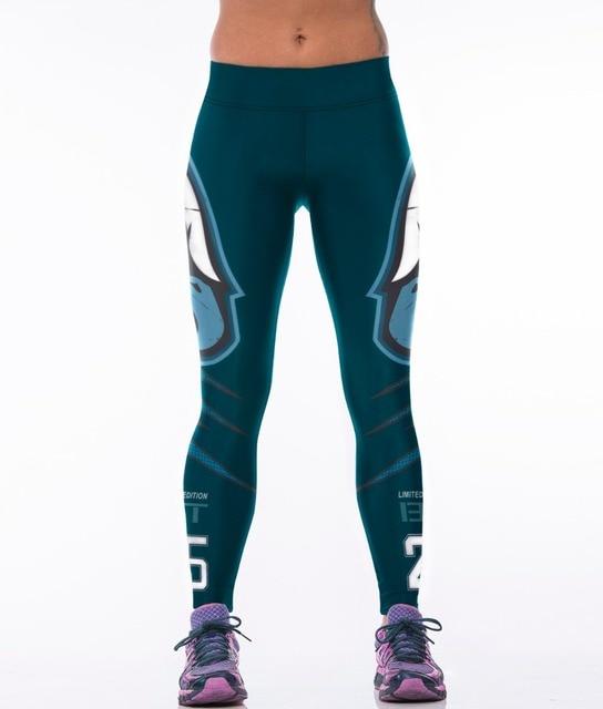 2016 Women American Football Pattern 3d Leggings Stretch: 2016 Newest 3D Print Futbol Pant Women Sportswear Leggings