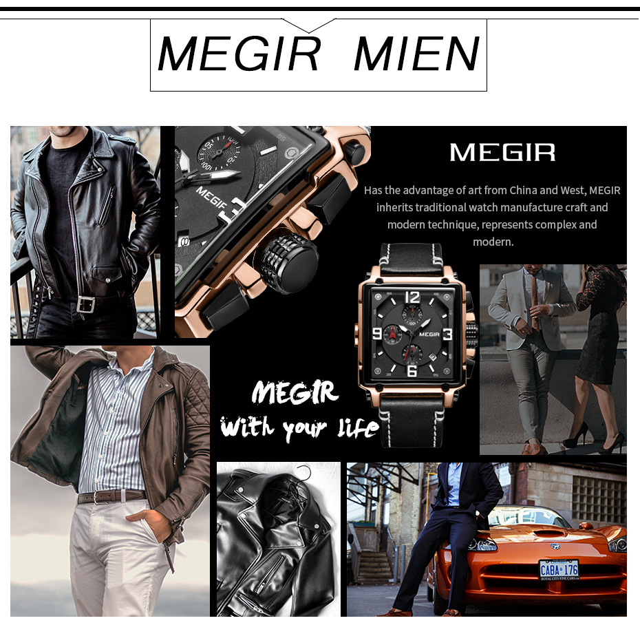 HTB1EujMTAzoK1RjSZFlq6yi4VXap MEGIR Creative Men Watch Top Brand Luxury Chronograph Quartz Watches Clock Men Leather Sport Army Military Wrist Watches Saat