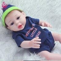 UCanaan Brand Boy Doll Reborn 22 Full Silicone Vinyl Body Children Play House Toys Bebe Gift