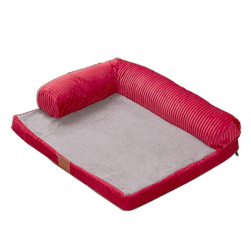 ترف كبير القطن قابل للغسل الكلب السرير أريكة الكلب القط الحيوانات الدافئة وسادة عش فضلات القطط دمية جرو بيت منزل