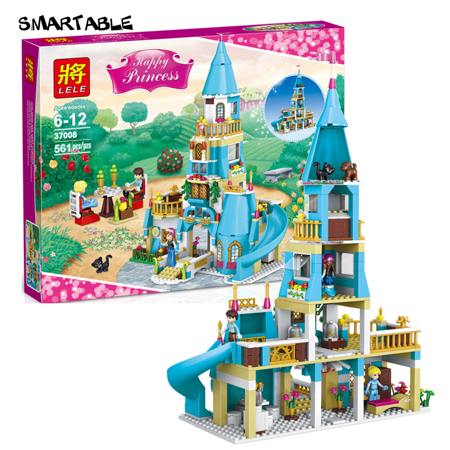 ФОТО Smartable Friend Princess Building Block Princess Anna and Princess Castle 37008 Figure Bricks toys Compatible legoeds lepin