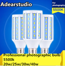 Milho LEVOU 360 Graus SMD5630 cri 90 3600lm 25 w 5500 k lâmpada 25 W luz milho 5500 K equipamento de fotografia profissional CD50