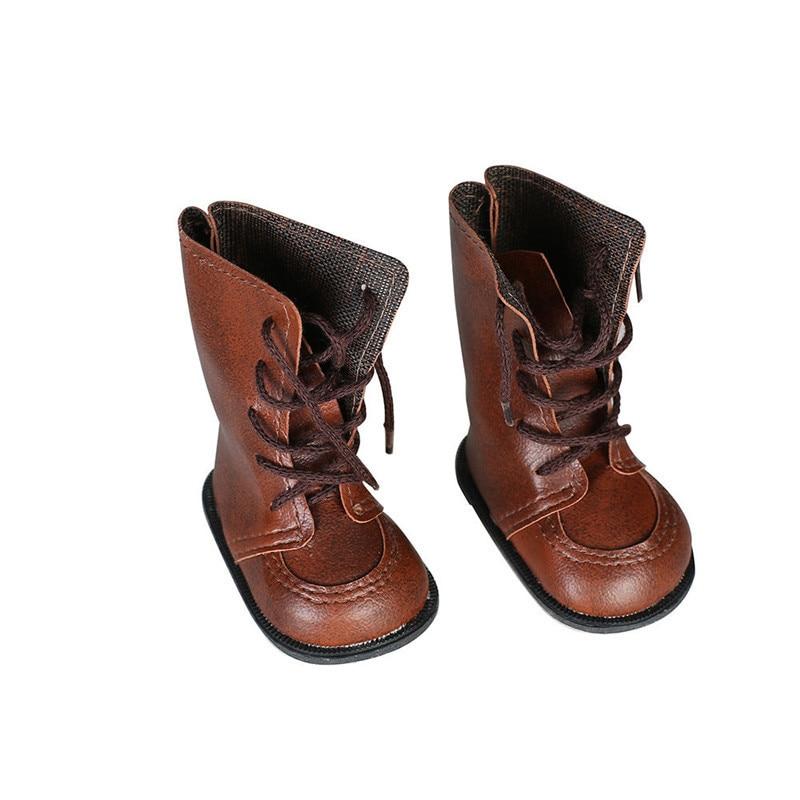 18 дюймов American Girl Doll коричневые кожаные ботинки 43 см куклы baby born или Alexander кукла Интимные Аксессуары для девочек лучший подарок ...