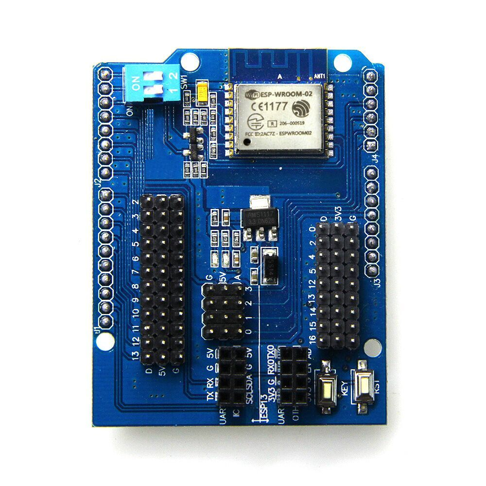 US $4 99 |ESP8266 Web Sever Serial WiFi Shield Board Module With ESP wroom  02 For Arduino UNO R3-in Replacement Parts & Accessories from Consumer