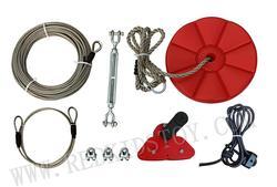 CTSC 95 Piedi (30 Metri) Zip Line Cable Kit con Freno e la Sede HZ-9711