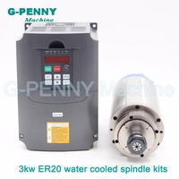 CNC Stone Working 220V ER20 3 0kw CNC Water Cooled Spindle Motor 3kw Engraving Water Cooled