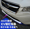 High Quality Stainless steel Front bumper guard Trim For SUBARU XV 2012 2013 2014 anti-rub refires chrome trim fast air ship