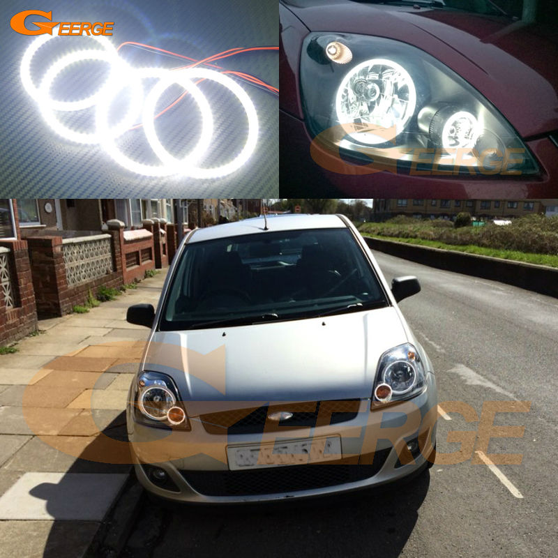 For ford fiesta facelift 2005 2006 2007 2008 Excellent 4 pcs smd led angel eyes Ultra bright illumination Angel Eyes kit for ford fiesta facelift 2005 2006 2007 2008 excellent 4 pcs smd led angel eyes ultrabright illumination angel eyes kit