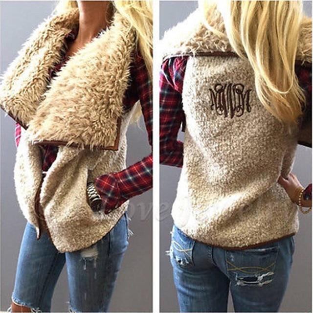 Fashion Women Winter Warm Faux Fur Vest Sleeveless Outerwear Waistcoat Jacket