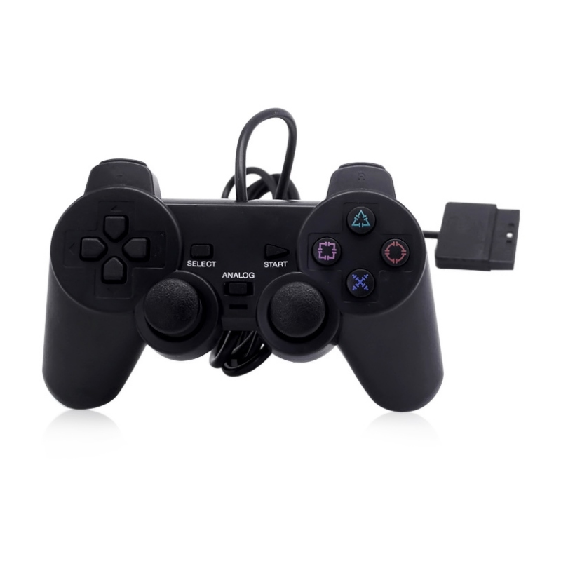 2018 Fashion Wired Controller Double Shock Remote Joystick Gamepad Joypad for PlayStation 2 PS2 10pcs a lot wired classic controller gamepad joystick joypad for wii