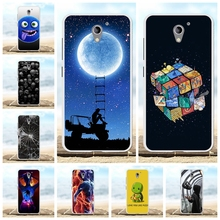 For ZTE Blade A510 Case Ultra-slim Soft TPU Silicone Cover Moon Patterned Shell Bumper