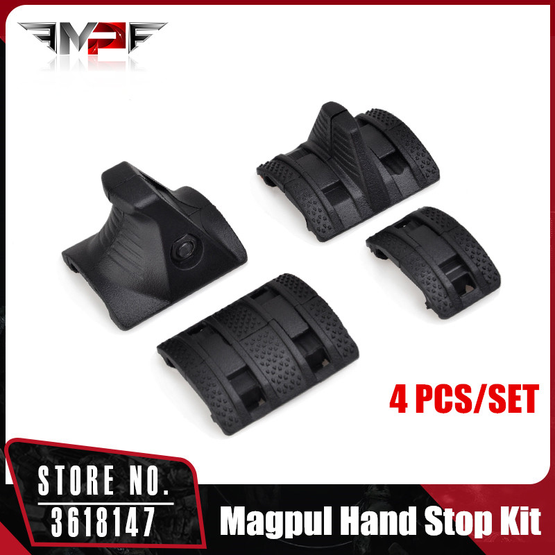 MP 4 PCS/SET EMagpul Hand Stop Kit Handguard Panels Picatinny Rail Handguard Cover BK DE MP02023MP 4 PCS/SET EMagpul Hand Stop Kit Handguard Panels Picatinny Rail Handguard Cover BK DE MP02023
