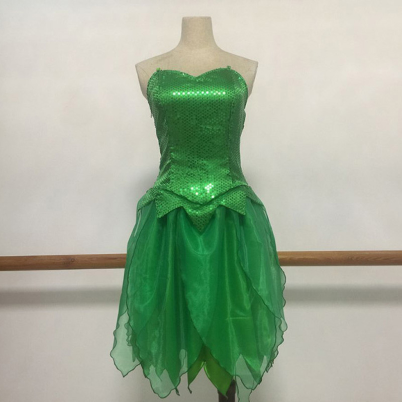 Tinkerbell Costume Tinker Bell Princess Dress Cosplay Costume Halloween Carnival Party Costume Full Set