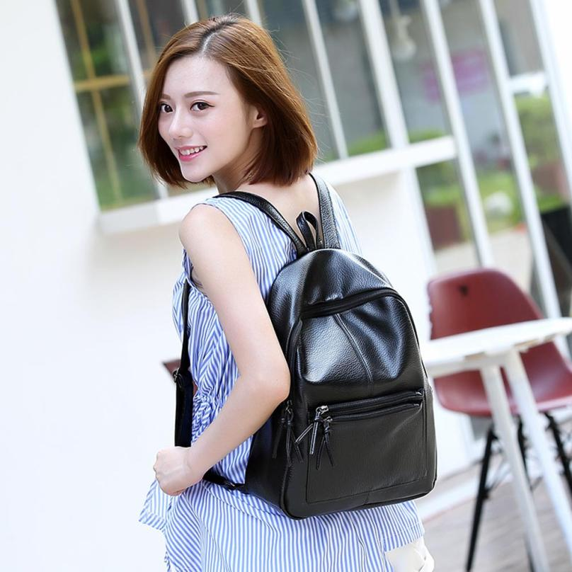 maison Backpacks high quality Leather fashion Girl Rucksack Zipper Shoulder School Travel Satchel backpack women 2018MA3