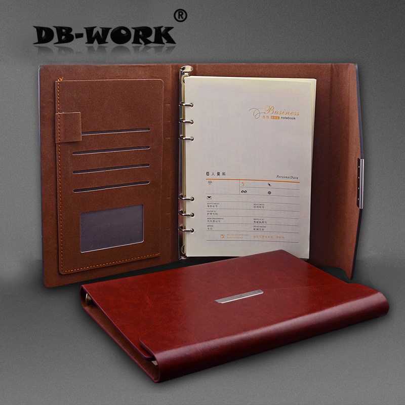 2017 Business Leather Notebook Three folding note book The fashion business office notebook binder miracleman book three olympus